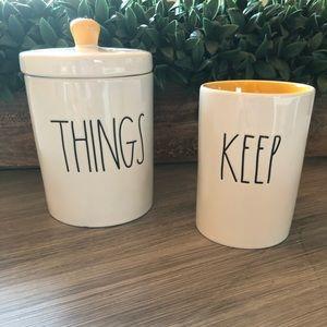 Rae Dunn THINGS KEEP holder